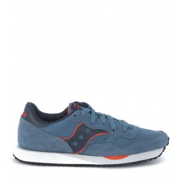 Saucony DXN Trainer in suede and blue avio nylon