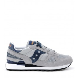 Sneaker Saucony Shadow in suede and grey fabric
