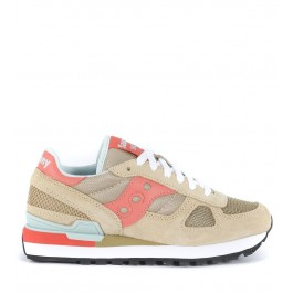 Saucony Shadow sneaker in sand suede and fabric