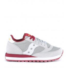 Saucony Jazz sneaker in light grey suede and nylon