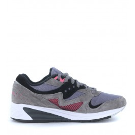 Sneaker Saucony Grid 8000 grey suede and net fabric