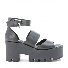 Windsor Smith Puffy black leather sandal