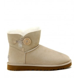 STIVALE UGG MINI BAILEY BUTTON BEIGE