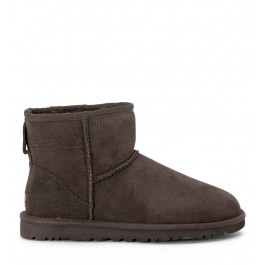 UGG MINI CLASSIC CHOCOLATE ANKLE BOOTS