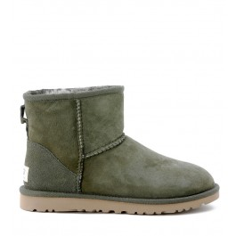 UGG MINI CLASSIC HUNTER GREEN ANKLE BOOTS