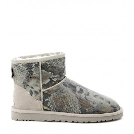 Ugg Mini Classic python-printed ankle boots