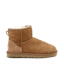 UGG MINI CLASSIC LEATHER ANKLE BOOTS