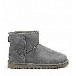 UGG MINI CLASSIC GREY ANKLE BOOTS