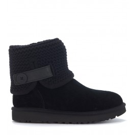 UGG Classic II Shaina ankle boots in black suede and wool