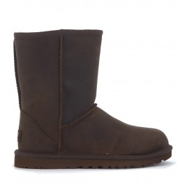 UGG Classic II Short ankle boots in brown leather vintage effect