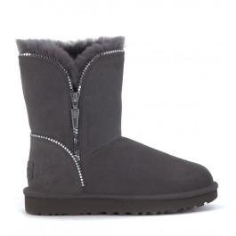Ugg Florence ankle boots in grey suede with zip