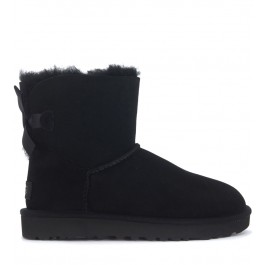 Ugg Bailey Mini anke boots in black suede with bow
