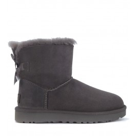 Ugg Bailey Mini ankle boot in grey suede with bow