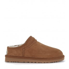 Slip-On UGG Classic Slipper in camoscio marrone cuoio
