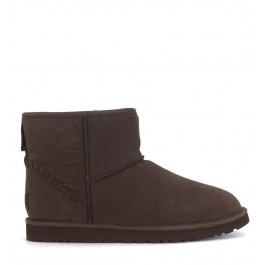 UGG Classic Mini Deco goat ankle boots in chicolate brown leather vintage effect