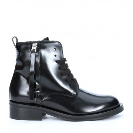 Via Roma 15 ankle boots in black brushed leather