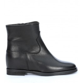Via Roma 15 ankle boots in black cowhide