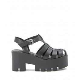 Windsor Smith Fluffy black sandal