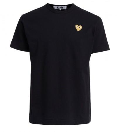 T-shirt Comme des Garçons Play girocollo di colore nero