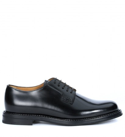 Shannon 2wr Church's black leather lace up shoes