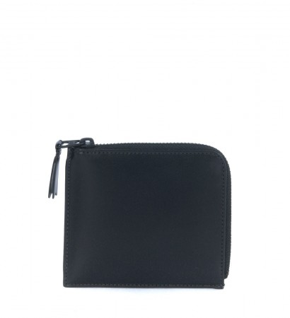 Bustina rettangolare Comme Des Garçons Wallet in pelle nera