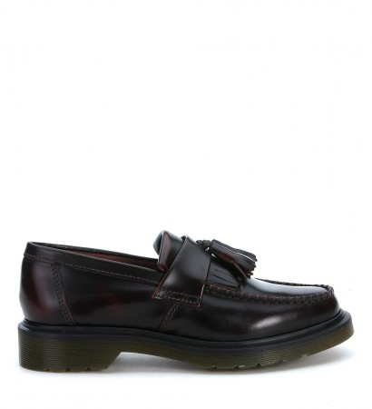 DR. MARTENS BORDEAUX FRINGE LOAFER