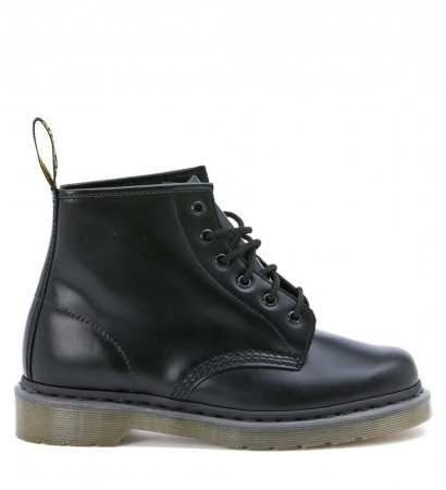 Dr. Martens 6 eyelet black smooth leather combat boot