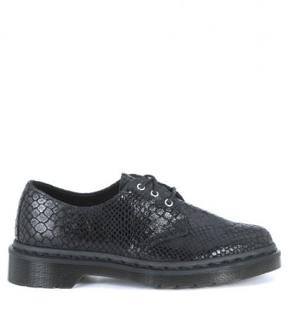 Dr Martens Core Tahan black python suede shoes