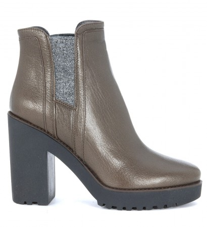 Hogan Route 275 brown leather ankle boots