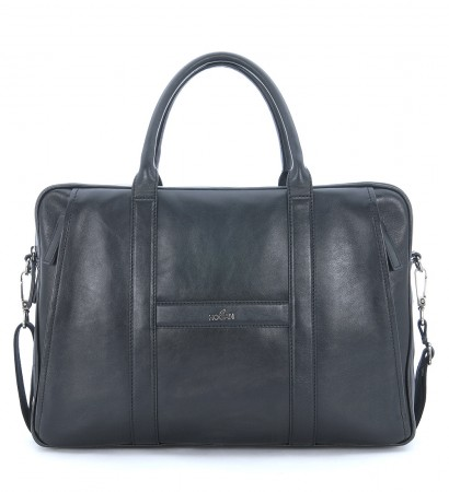 Hogan briefcase in black tumbled leather