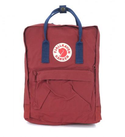 Kånken by Fjällräven red and blue backpack
