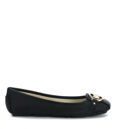 Michael Kors Fulton Moc flat sneakers in black saffiano leather