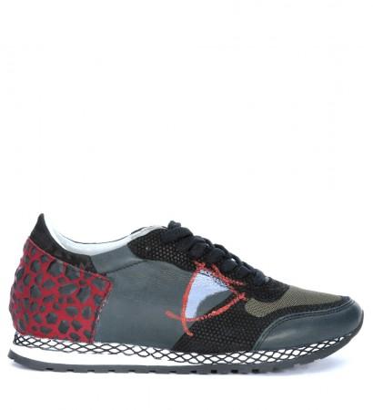 Sneaker Philippe Model Special Resau in pelle grigio scuro