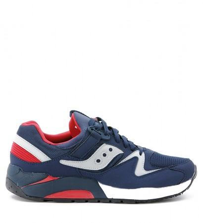 Sneaker Saucony Grid 9000 in pelle blu