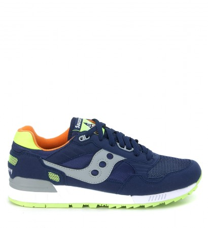 Sneaker Saucony Shadow 5000 in suede e nylon blu