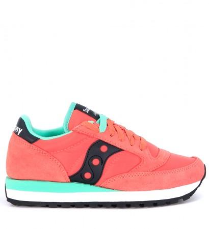 Sneaker modello Saucony Jazz in suede e nylon colore rosa fragola