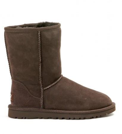 UGG CLASSIC SHORT CHOCOLATE ANKLE BOOT