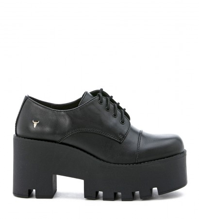 Windsor Smith black leather lace up shoes