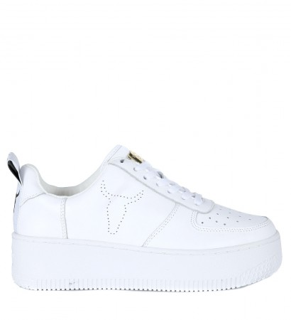 Windsor Smith Racerr sneakers in white leather with platform