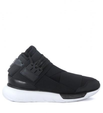 Y-3 Qasa High black leather and neoprene sneaker