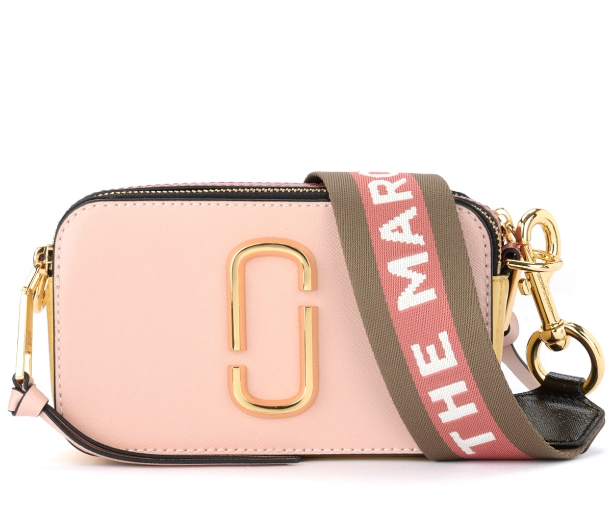 The Marc Jacobs Snapshot Small Camera Bag shoulder bag in pink saffiano  leather