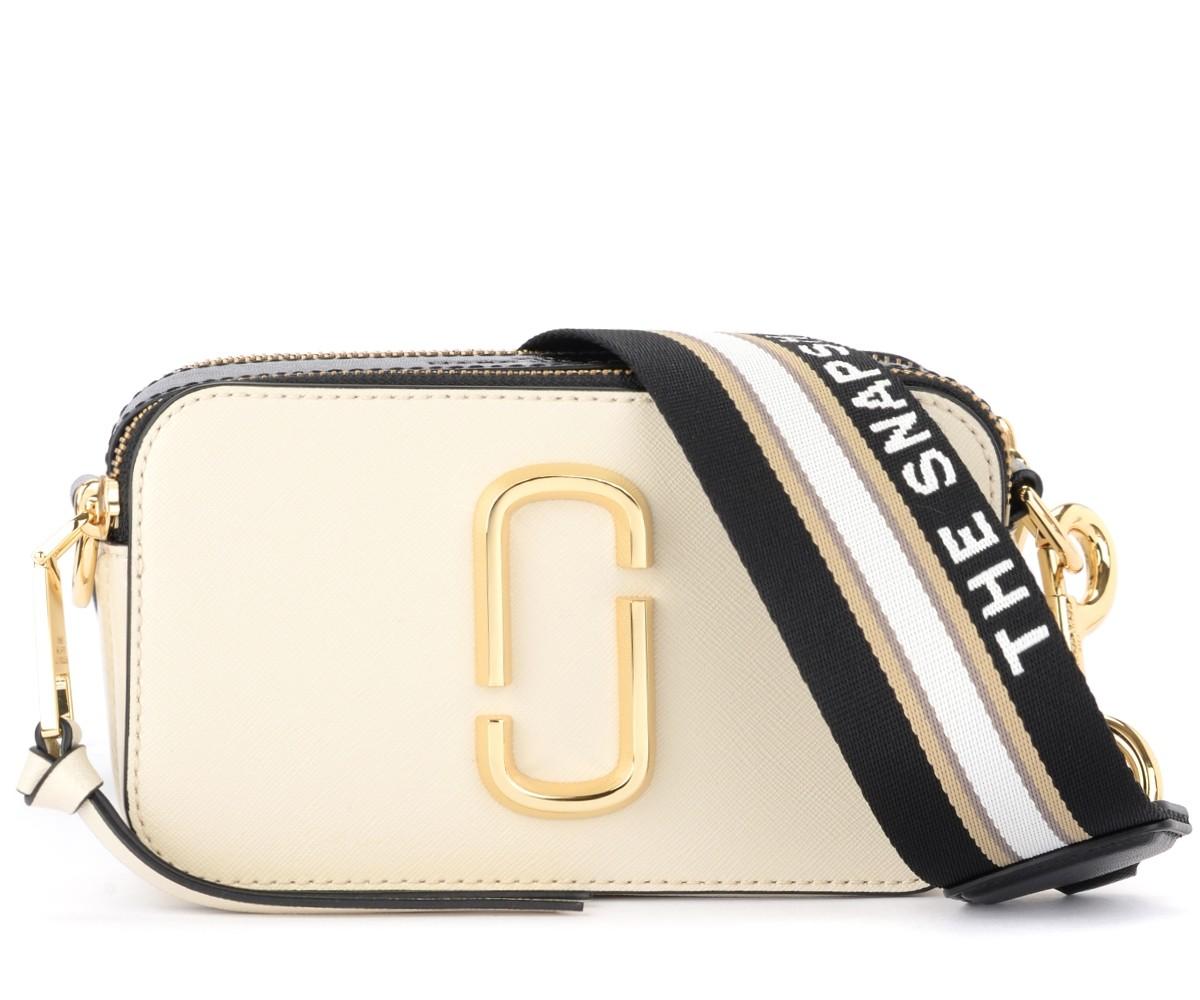 The Marc Jacobs Snapshot white and black shoulder bag