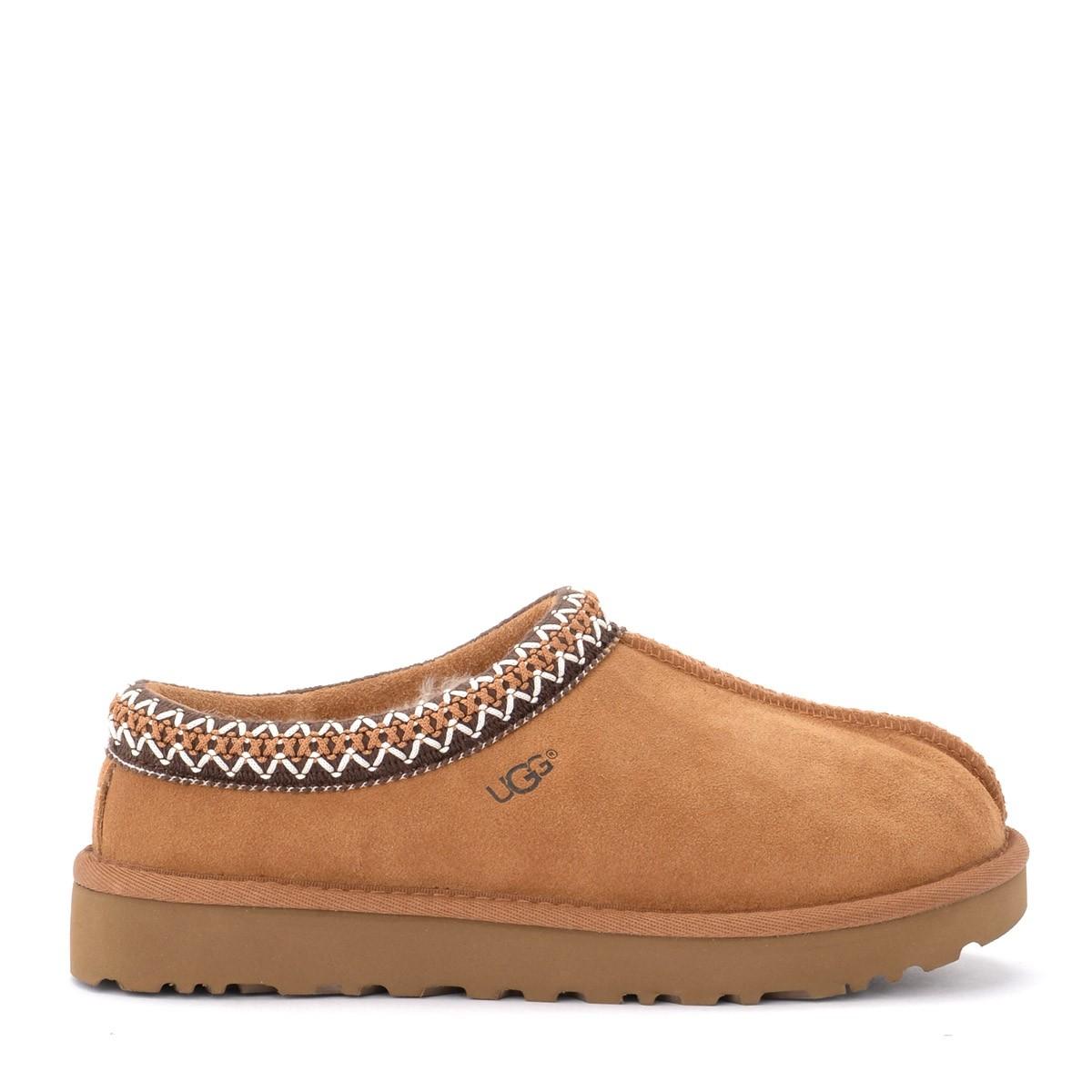 Ugg Tasman slipper in chestnut suede