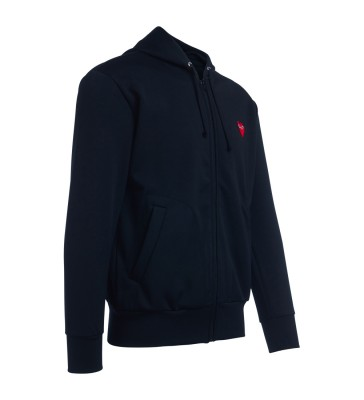 Laterale Comme Des Garçons PLAY black sweatshirt with hood and red heart