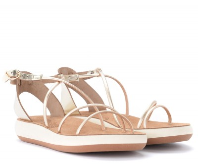 Laterale Ancient Greek sandal Anastasia model in golden leather