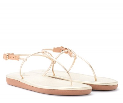 Laterale Ancient Greek Katerina model thong sandal in gold leather