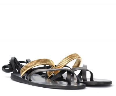 Laterale Ancient Greek Sandals Lafitis sandal in black leather