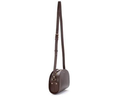 Laterale Shoulder bag A.P.C. Demi-Lune in brown leather