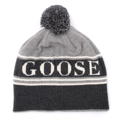 Laterale Canada Goose cap in gray wool with pompom