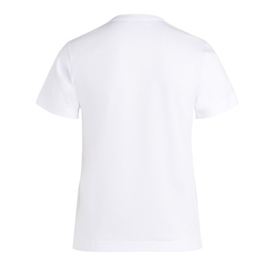 Laterale Comme Des Garçons PLAY women's white t-shirt with red heart